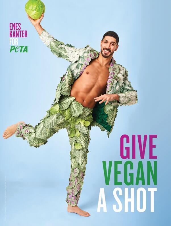 Enes Kanter go vegan ad for PETA