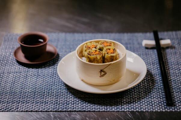 Shrimp dumplings from Shiok Meats