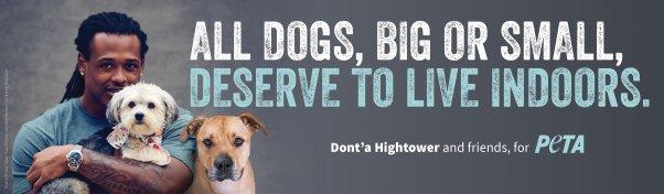 Dont'a Hightower Billboard for PETA