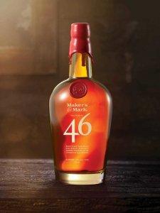 Bottle of Makers Mark 46 Bourbon