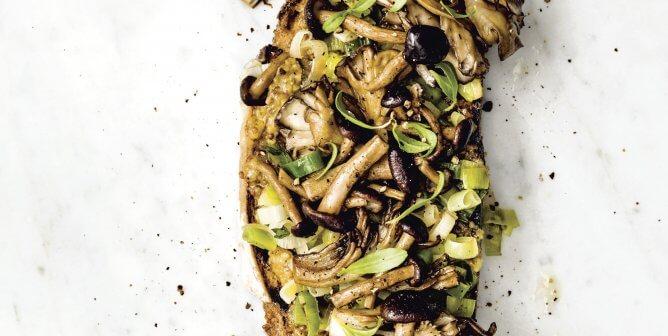 Bryant Terry's Caramelized Leek and Seared Mushroom Toast