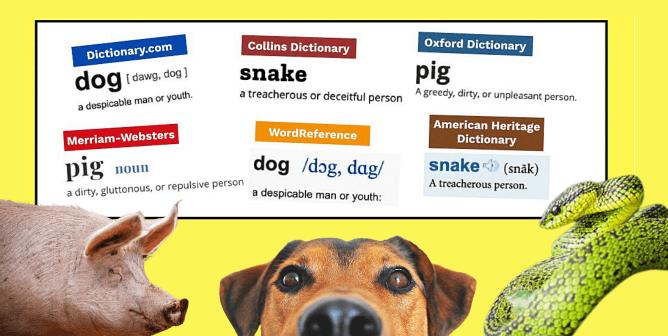 Derogatory Definitions, Speciesist Slurs—Dictionaries Should Nix Them All