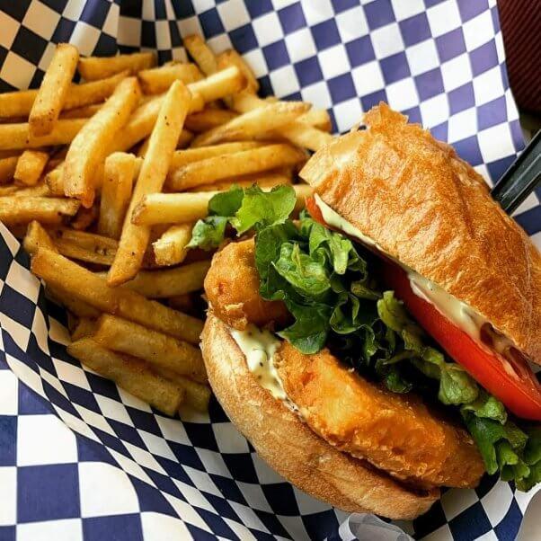 Fish Sandwich at Sea Ranger Seafood Station Restaurant