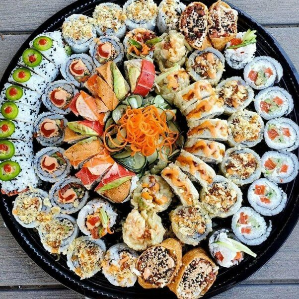 Sushi Platter at Sea Ranger Seafood Station in Ventura