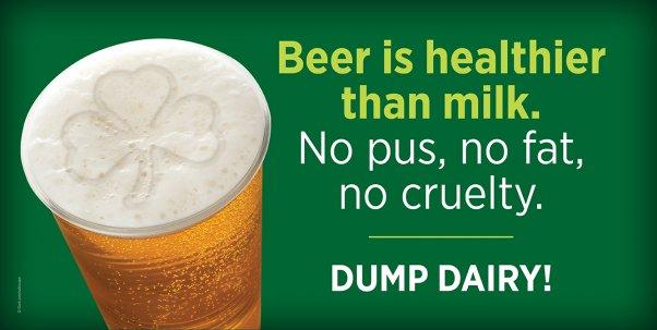 Beer is healthier than milk