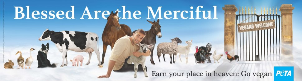 Blessed Are The Merciful. Earn Your Place In Heaven: Go Vegan