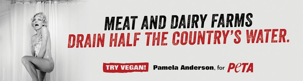 Pamela Anderson: Meat And Dairy Farms Drain Half The Country's Water