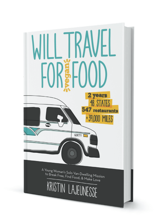 Will travel for vegan food book