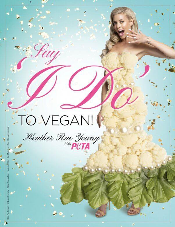 Heather Rae Young in vegan ad for peta