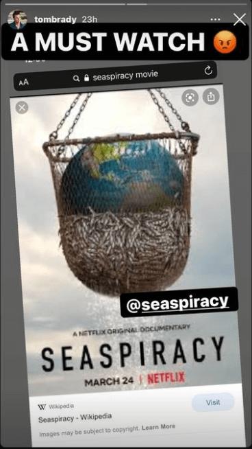 Tom Brady urges fans to watch Seaspiracy on Netflix