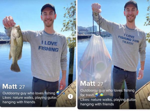 Tinder experiment: Fisherman vs, Trash Fisher