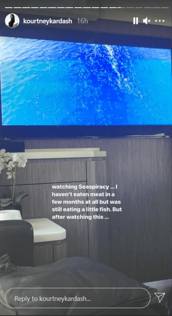 Kourtney Kardashian seaspiracy post