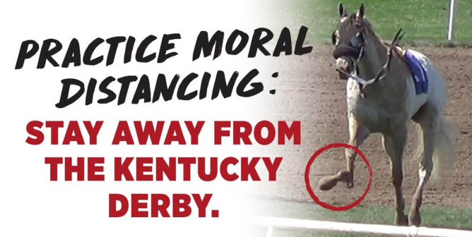 PETA's Mobile Billboard Urges 'Moral Distancing' From Kentucky Derby