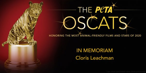 Cloris Leachman wins PETA Oscats Award