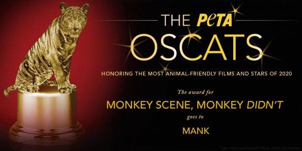 PETA Awards Mank film an Oscat award