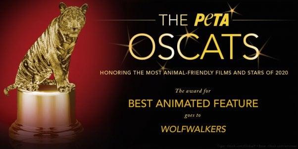 PETA Awards Wolfwalkers film an Oscat