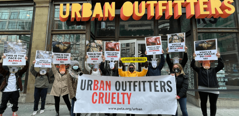 Urban Outfitters Is 'Closed for Cruelty' by PETA