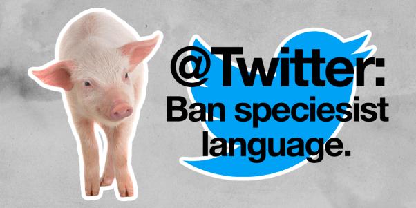 Twitter speciesist language