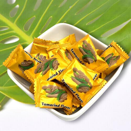 asian snacks bowl of vegan tamarind candy