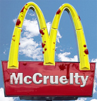Bloody McDonald's Sign