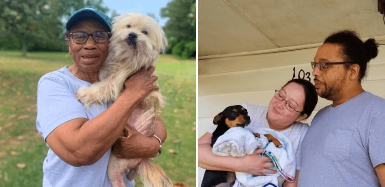 Chucky and Bella Celebrate Reunion With Guardians After Spay/Neuter Procedures