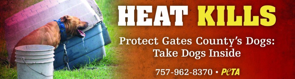 Heat Kills. Protect Gates County's Dogs: Take Dogs Inside