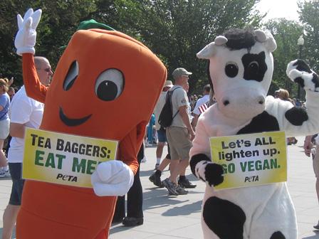 PETA at Glenn Beck rally