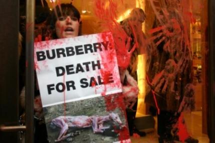 PETA anti fur protest at Burberry in London 5.jpg