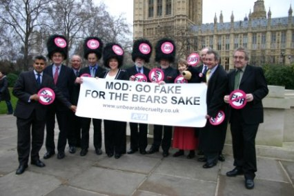 PETA bear fur MP protest with Glenda Jackson and others.jpg