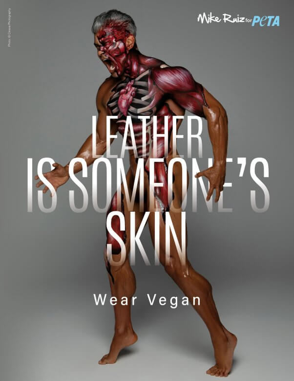Mike Ruiz in Leather PSA for PETA