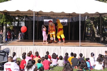 Ronald gets pied