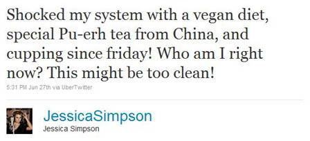 Jessica Simpson Tweet
