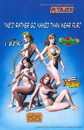 The Women of Bluewater Comics Would Rather Go Naked Than Wear Fur