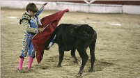 Child bullfighter