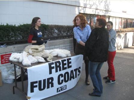 PETA's fur coat giveaway
