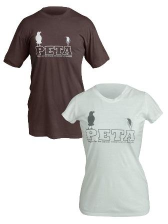 PETA's Crow and Roach T-shirt