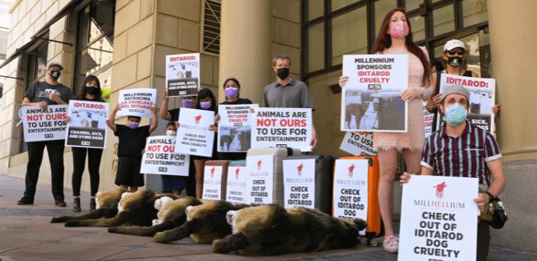 PETA Rallies Against Millennium Biltmore Hotel