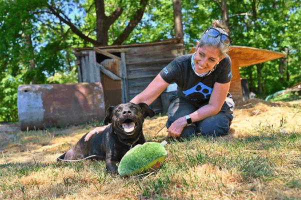 Daphna with dog Midnight