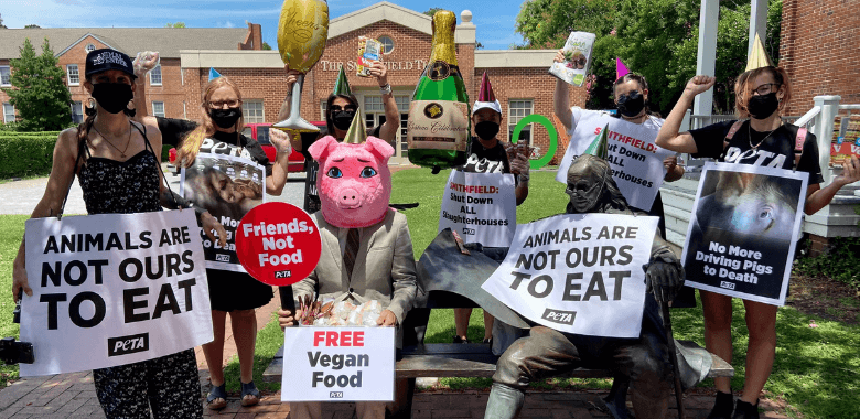 'Pig' Pops Champagne After News of Smithfield Slaughterhouse Shutdown