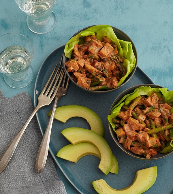 vegan crab louis salad