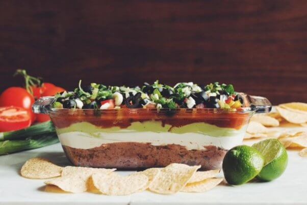 seven layer vegan dip