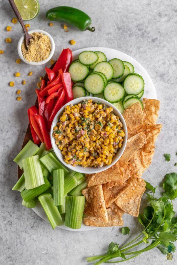 street corn vegan dip
