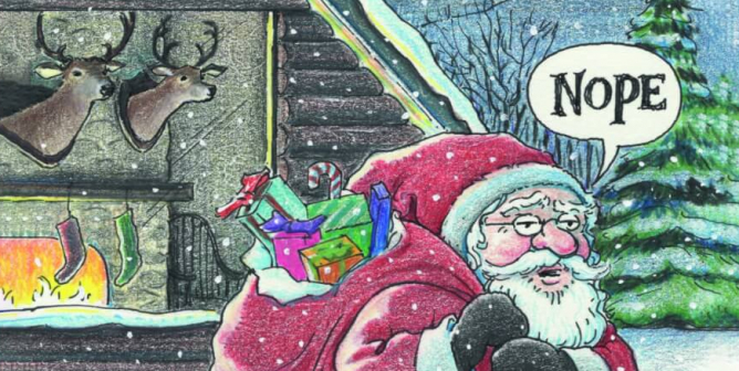 Harry Bliss: Don't End Up On The Naughty List. Respect All Living Beings