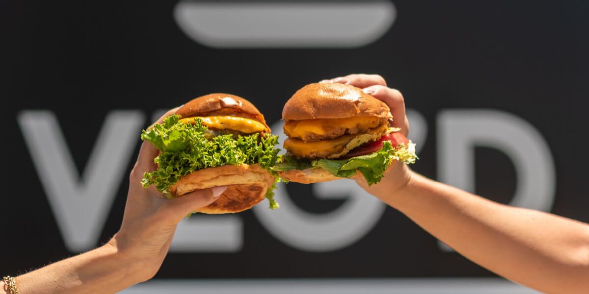 veg'd vegan drive-through veg'd burger