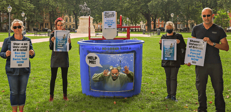 'Rat' Dunked in Tank to Protest Cruel Near-Drowning Tests