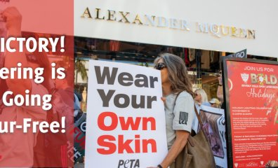Victory! Following Decades-Long PETA Campaign, Kering Is Going Fur-Free!