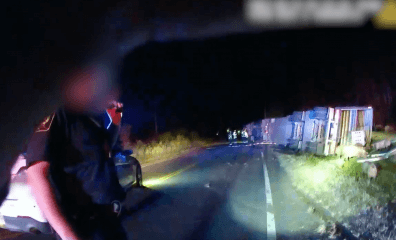 Body Cam Video Exposes Pigs' Torment Following Fatal Wreck: 'That's Probably … a Broke Pig … Laying There'