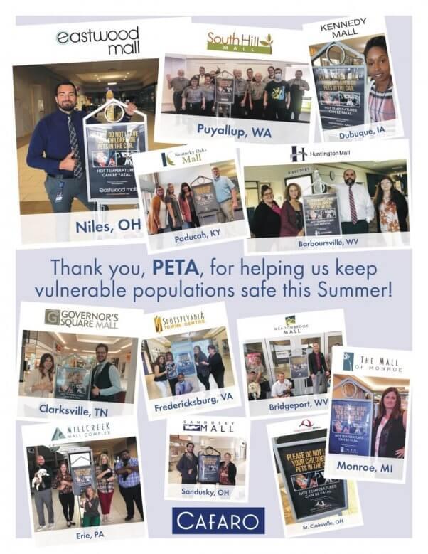 Cafaro employees thank PETA