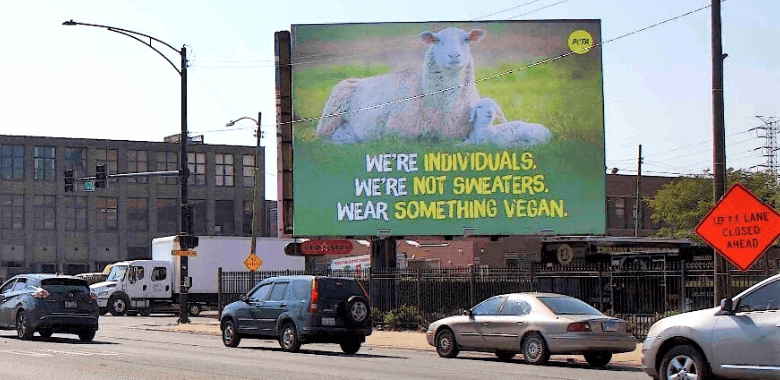 PETA Ad Urges Chicago Shoppers to Wear Vegan