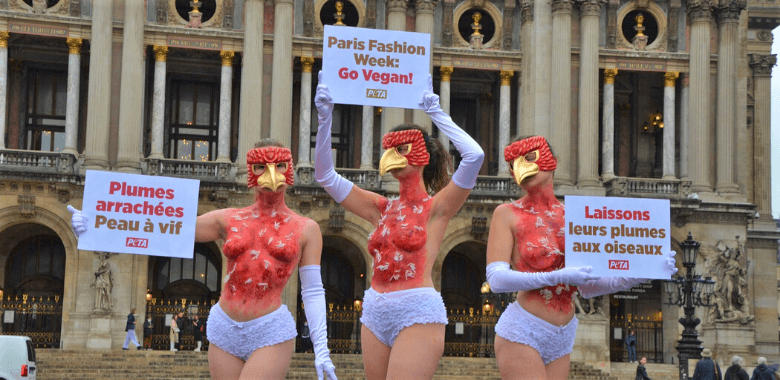 Protesters 'Plucked Alive' Speak Out Against the Cruel Feather Industry
